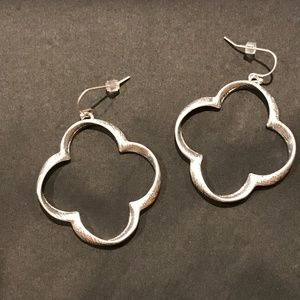 Jewelry - Silver Clover Earrings Nickel Free